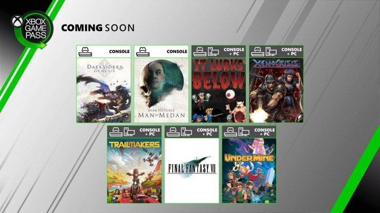 Xbox Game Pass Agosto 2020