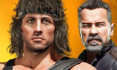Isso mesmo Stallone Vs. Schwarzenegger, o herói de guerra e o implacável ciborgue do futuro se enfrentam em Mortal Kombat 11.