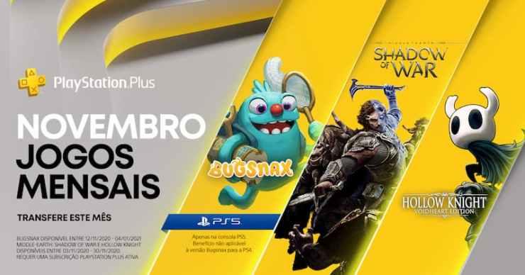 Jogos gratuitos da PS Plus de Novembro para PlayStation 4 e PS5!