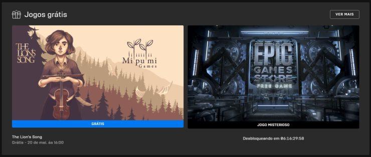 Até ao dia 20 de Maio você pode aproveitar The Lion´s Song e depois um grande jogo misterioso vai ser revelado pela Epic Games Store.