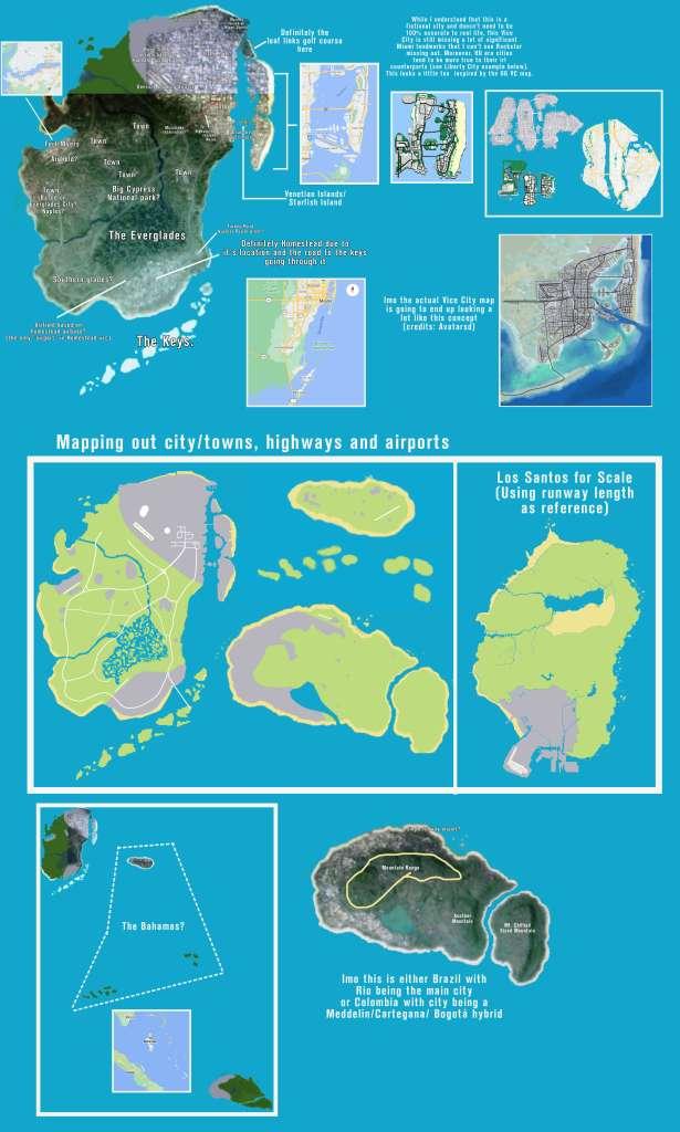 Analise feita por um fã aos supostos mapas vazados de GTA 6.