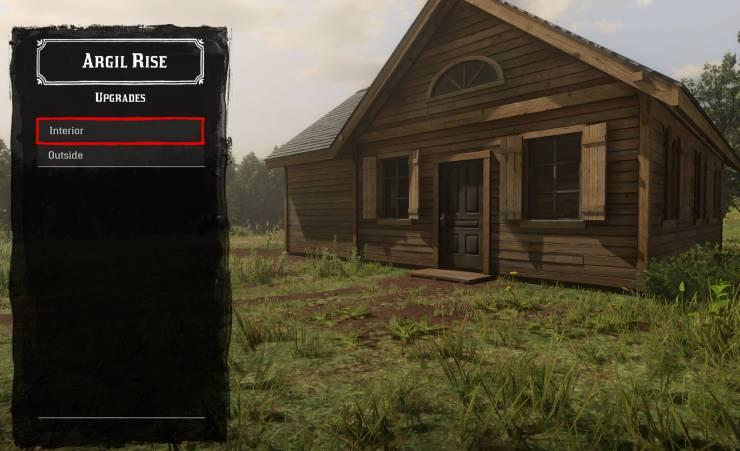 Compre e personalize a sua casa em Red Dead Redemption 2.