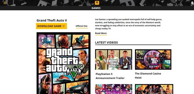Os burlões usam um site muito similar ao da Rockstar Games para promover uma cópia falsa de GTA 5.