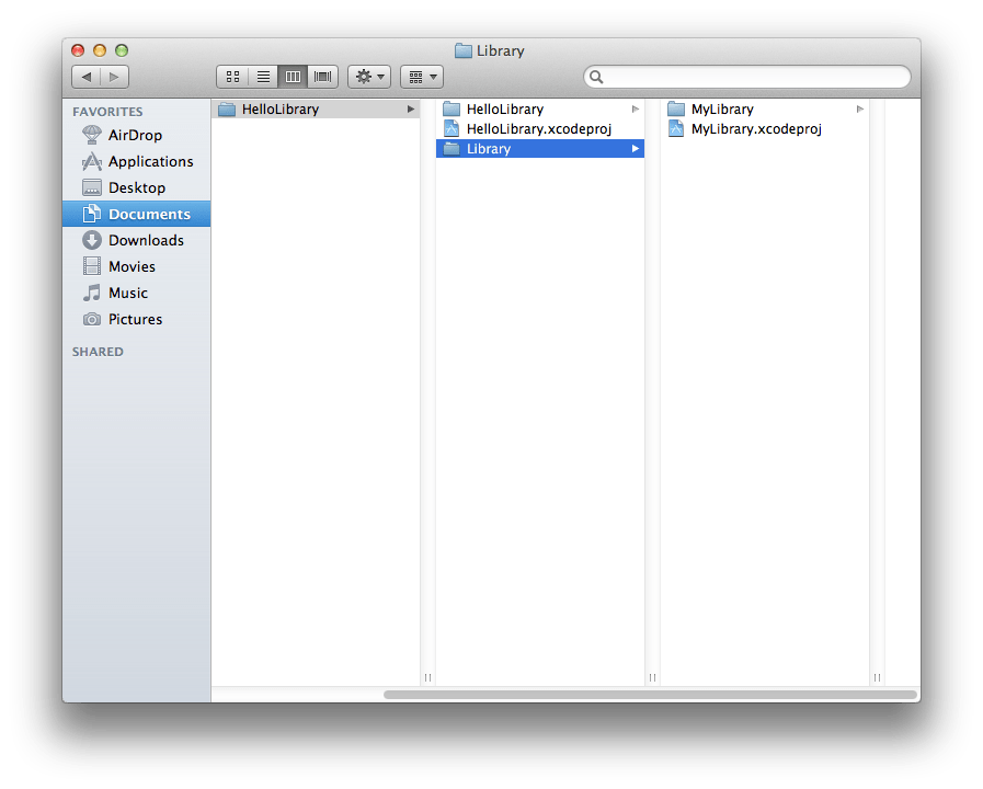 Linking an iOS Static Library Project in another Project in Xcode 4.3.2 (1/5)