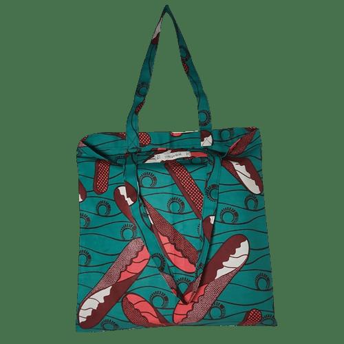 Shopper in tessuto wax 40x42