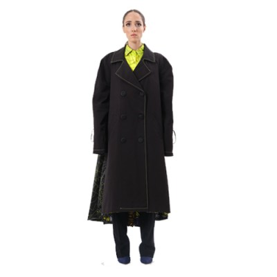 Bonka Oversized Double-Breasted Trench JT308