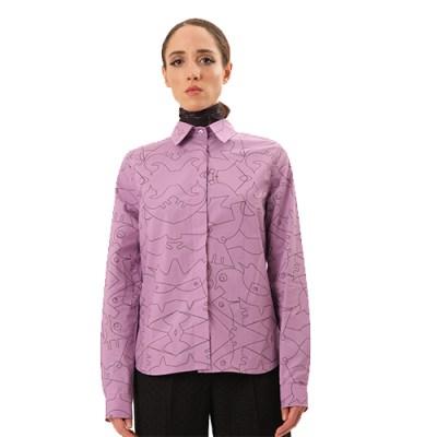 Poplin Long Cotton Shirt SH001-PRLE/BK