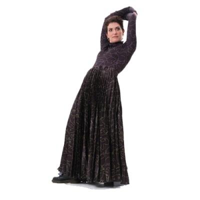 Plisse Long Pleated Skirt SP300