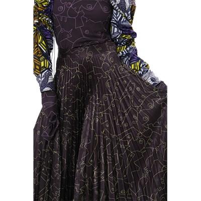 Plisse Sekete Long Pleated Skirt SP301