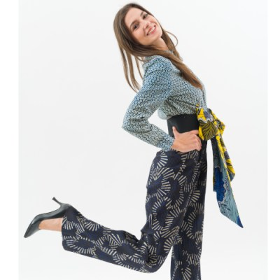 Pantalone plissé 017FG