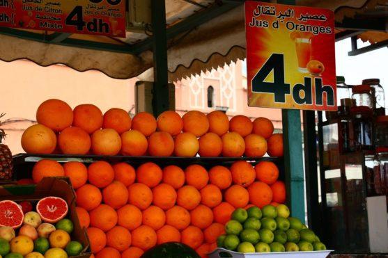 O tradicional suco de laranja marroquino!