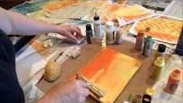 Color Play Gelli Art
