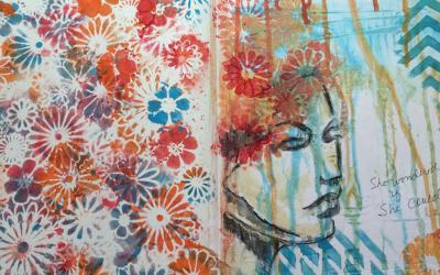 Mixes Media Walk Through: Fearless Art Journaling: Week 2