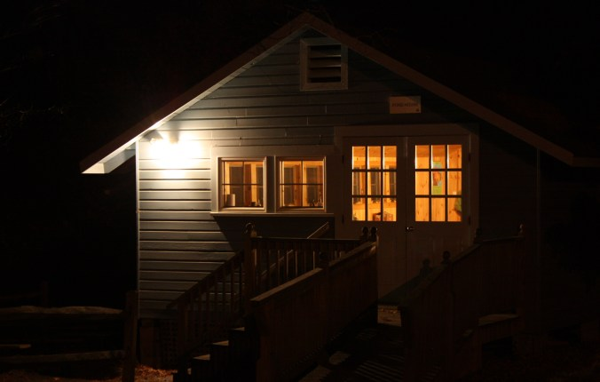 The cozy Pond House at Drumlin Farm in Lincoln is saw-whet central on fall nights.