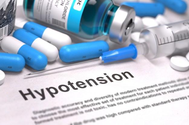 Diagnosis - Hypotension. Medical Concept. 3D Render.