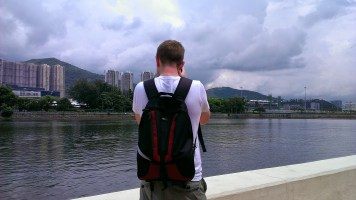 Day 2: Richard Taking Picture of Shing Mun River