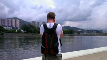 Day 2: Richard Taking Picture of Shing Mun River