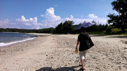 Day 4: Dad Walking with an Umbrella