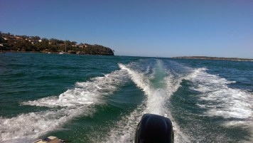 Jibbon Beach: Back of Boat Shot