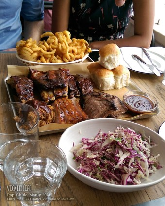 Papi Chulo: BBQ Platter at the Table