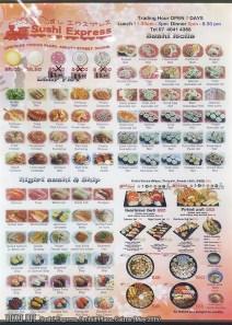 Sushi Express, Cairns: Menu