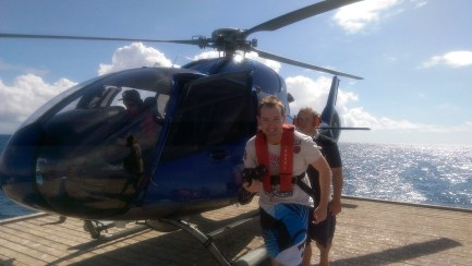 Great Barrier Reef Cairns, June 2015: Getting Off the Helicopter