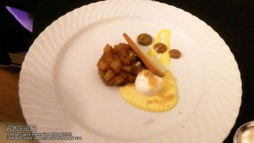 Pullman Cairns Conference Dinner: Deconstructed Apple Tart (dessert)
