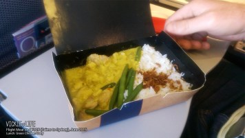 Qantas QF925: Green Curry Chicken