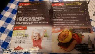 Bar Angolo Pizzeria, Top Ryde, June 2015: Menu Pizza Bianca