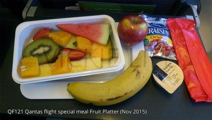 QF121 Qantas Fruit Platter