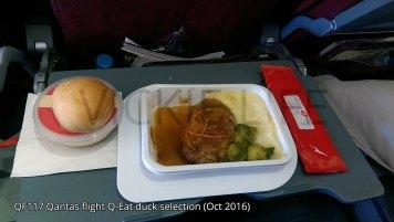 QF117 Qantas Q-Eat: Duck option