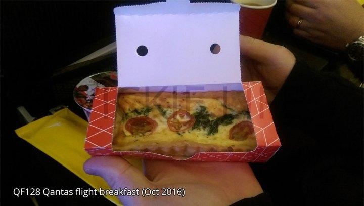 QF128 Qantas standard breakfast