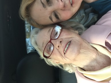 Patricia Hudson and Vickie Gay going out to have fun