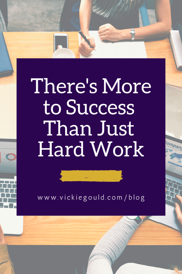 There's more to success than just hard work. www.vickiegould.com/blog Work Hard: the Asian motto that I'm rejecting