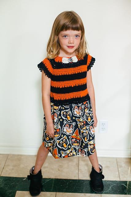 crocheted halloween dress vickie howell