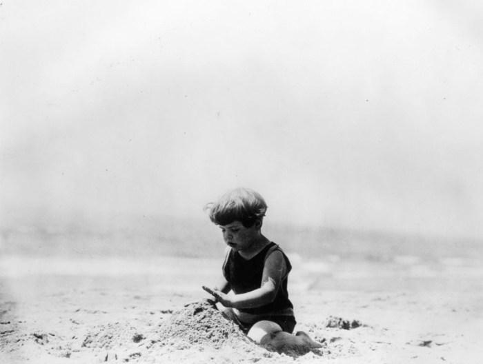 1930 toddler at beach