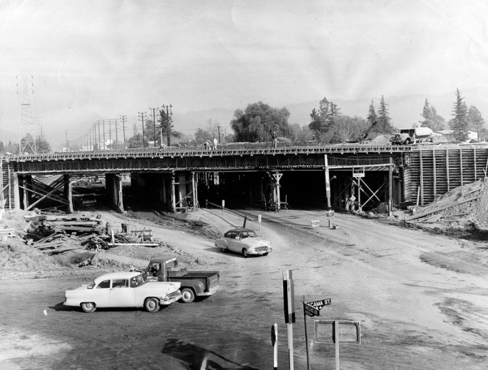 freeway construction 1956