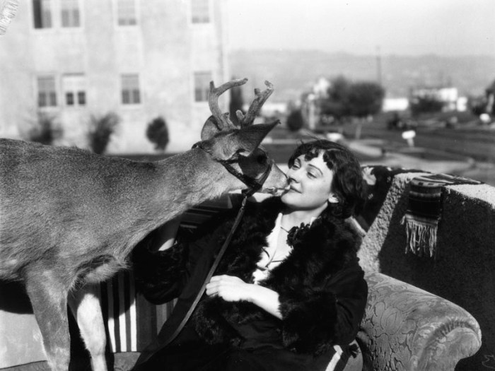 1927 Lady and deer - Beverly Hills