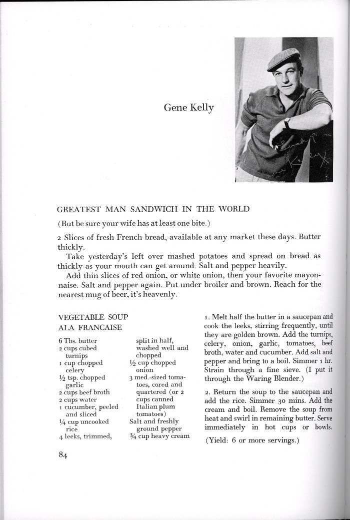 gene kelly greatest man sandwich