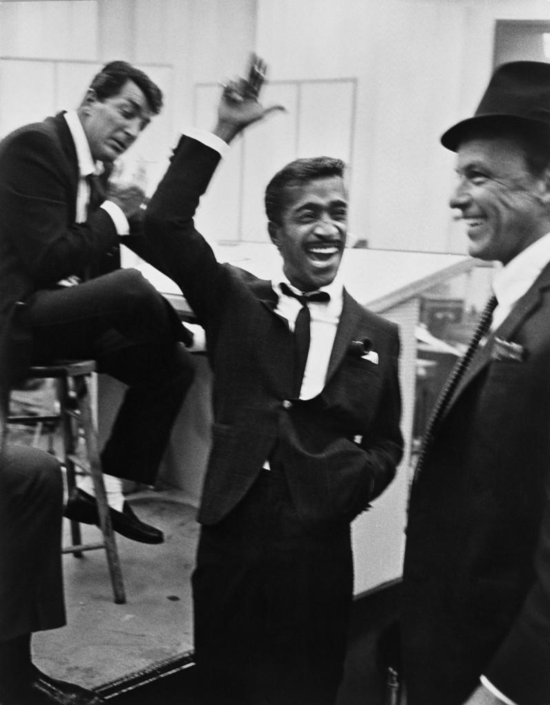 Portrait of Frank Sinatra, Sammy Davis Jr., & Dean Martin by Phil Stern