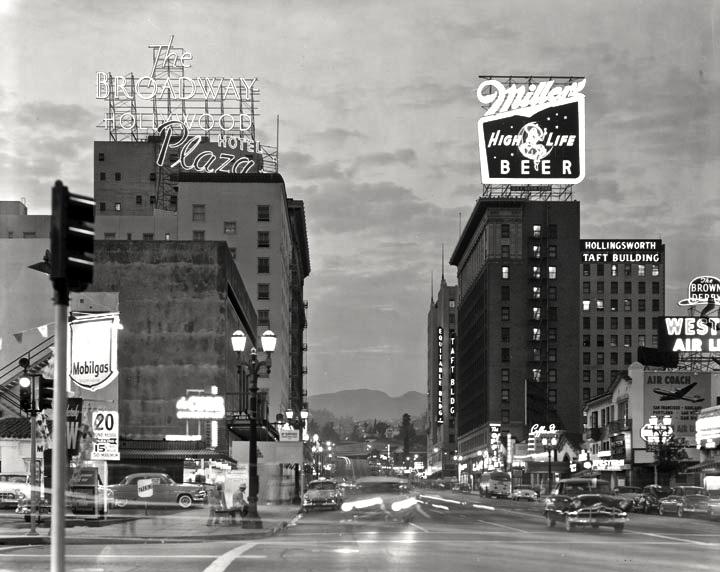 Photo by Ralph Morris, Hollywood Blvd. 1960
