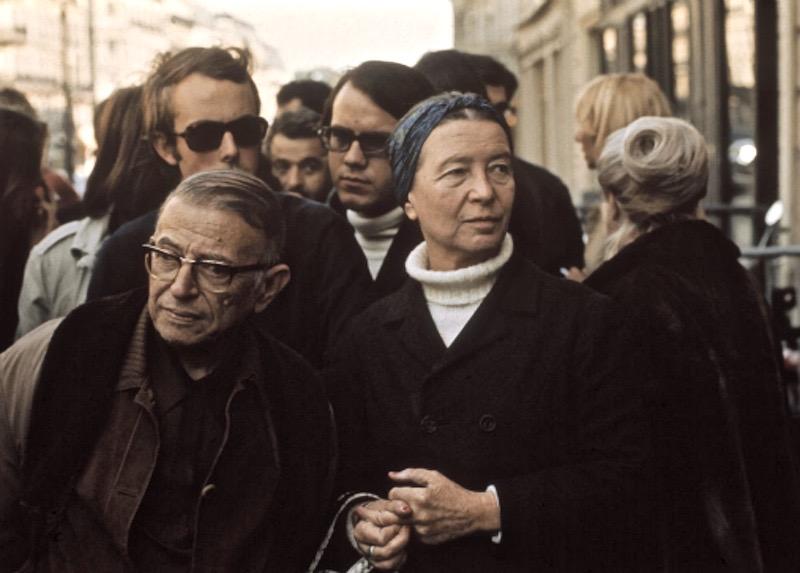 1970 Paris Sartre de Beauvoir