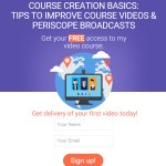 Graphic illustrating Vickie's free video course, Course Creation Basics