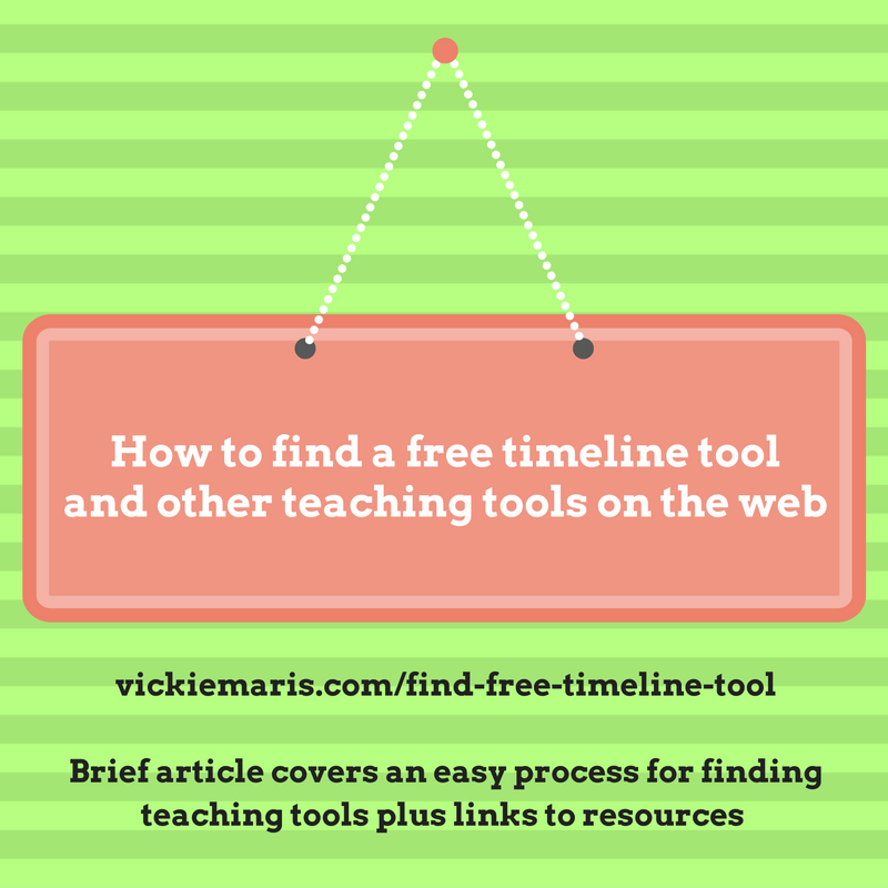 how to find a free timeline tool in an easy online search teach
