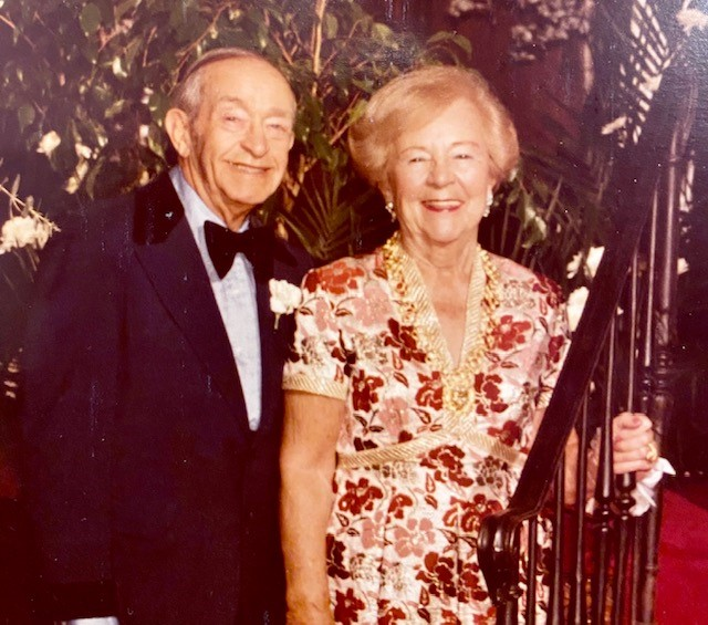 Grandma Was an Air-Raid Warden - photo of Leo and Sayde Schlanger at our wedding