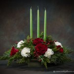 Christmas Holiday Flowers Candle Centerpieces Vickies Flowers Brighton Co Florist