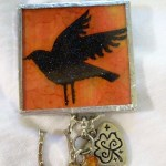 Halloween Crafts – Memory Glass Mixed Media Brooch