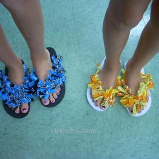 Bandana Embellished Flip Flops – Update