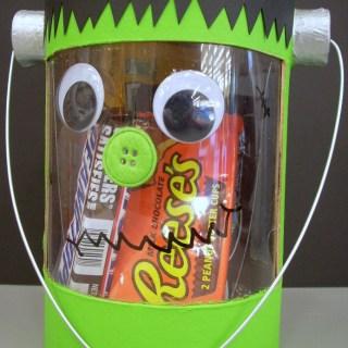 Halloween Crafts – Frankenstein Treat Tote