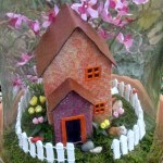 sizzix die cut house, miniatures, doll house,
